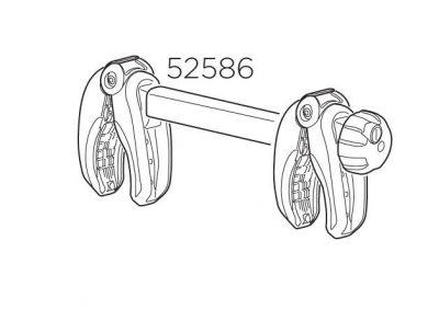 Bras de fixation de cadre à cadre 4e vélo Thule VeloCompact 924/926