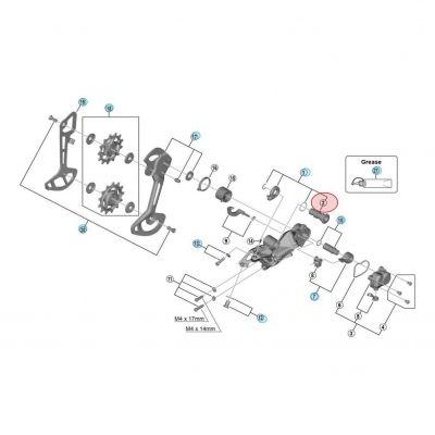 Axe pour dérailleur Shimano XTR M9100 RD-M9100