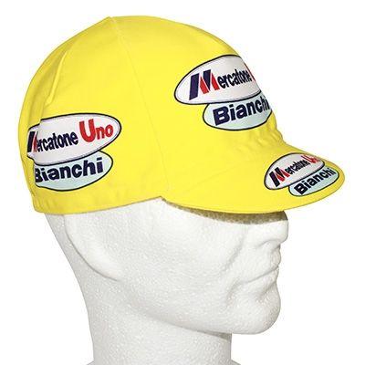 Casquette Equipe Vintage Mercatone Uno Bianchi Jaune