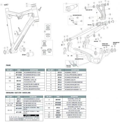 Cannondale Trigger 29er cadres carbone Lien Matériel Kit-KP288//02//BLK