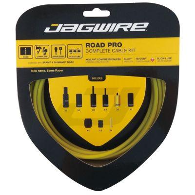 Kit complet câbles et gaines Jagwire Road Pro - Jaune RCK009