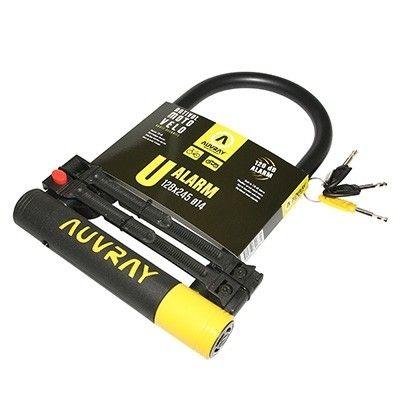 Antivol vélo U Auvray Alarm 128 x 245 mm D. 14 mm À clé Avec alarme sonore