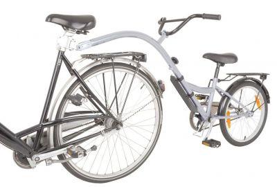 """Vélo suiveur Trailer Bike 20"""" Argent"""