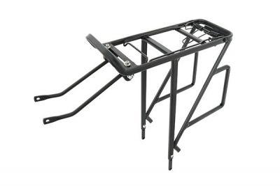 """Porte-bagages Massi CM10 réglable 24 à 29"""" aluminium Noir"""