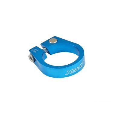 Collier de tige de selle 34,9 mm Alu 6061 Bleu