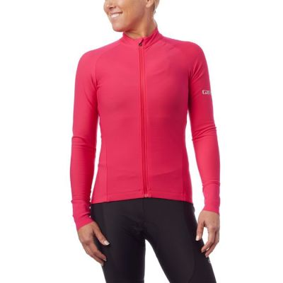 Maillot Giro Chrono LS Thermal Jersey Femme Rose