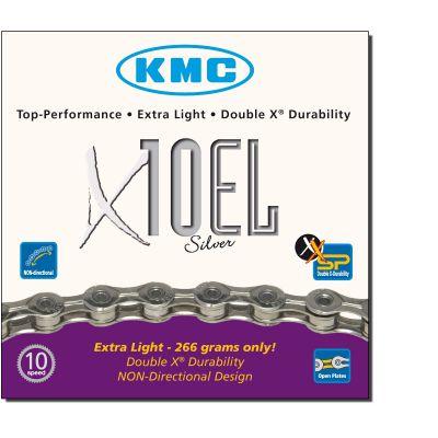 Chaîne vélo KMC 10 Vitesses X10El Argent