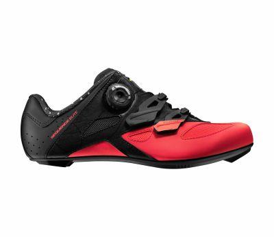 Chaussures route femme Mavic Sequence Elite Noir/Corail Fiery