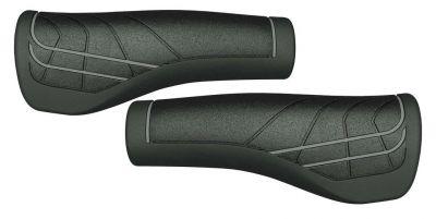 Poignées ergonomiques Herrmans Line 124 mm Noir/gris (Paire)