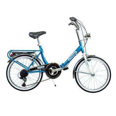 "Vélo pliant Cinzia Firenze 20"" Acier Monovitesse Bleu"