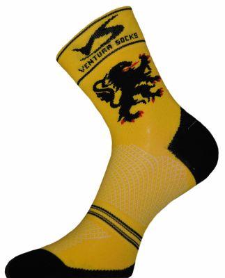 Chaussettes Ventura Socks Carbone Région Lion des Flandres