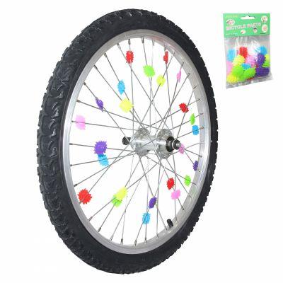 Décoration de roue multicolore Fix. rayon À clipser (24 pièces)
