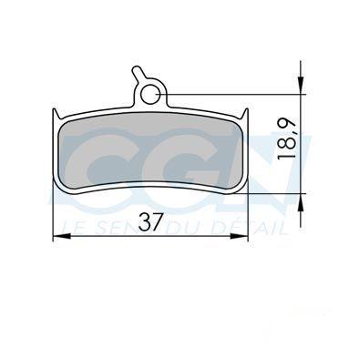 Plaquettes de frein 37 Clarks comp. Shimano XT M755 / HOPE / SRAM Métallisée