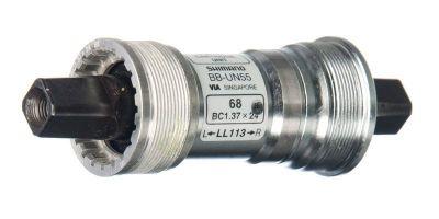 Boîtier de pédalier Shimano BB-UN55 Carré BSA 68x127,5 mm