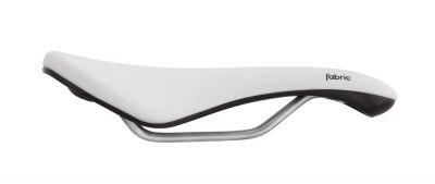 Selle Fabric Scoop Woman Gel Radius Elite femme 155 mm Blanc/Noir