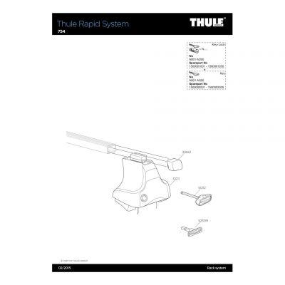 Pied de barre de toit Thule 754 - 51211