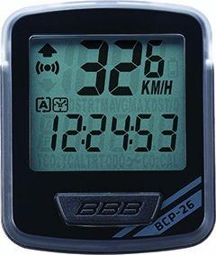 Compteur filaire BBB NanoBoard 12 fonctions Noir/Gris - BCP-26