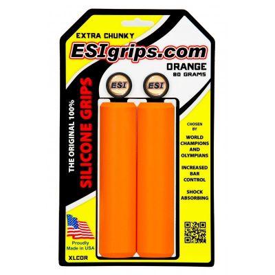 Poignées ESI Grips Extra Chunky silicone 34 mm Orange