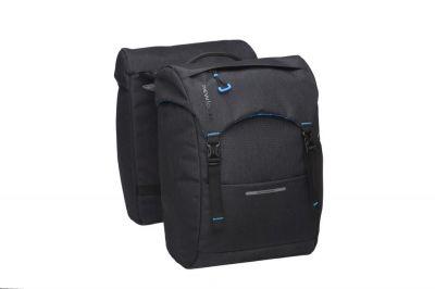 Sacoche double New Looxs Sports À pont sur porte-bagages comp. Racktime 30 L Noir
