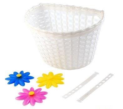 Panier AV Enfant Plastique À Crochets Blanc avec décors