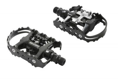 Pédales mixtes Massi M604 SPD/Plates Noir