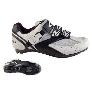 Chaussures Route GES Corsa 2 Velcros + Clic Blanc/Noir