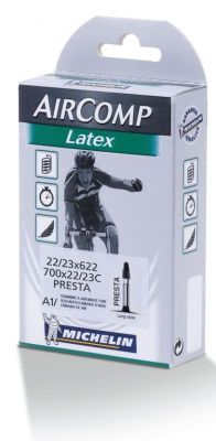 Chambre à air Michelin 700 x 18/20C Air Comp Latex A1 Presta 36 mm