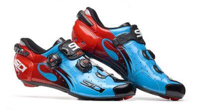 Chaussures Sidi WIRE Carbon '17 Bleu Sky/Noir/Rouge