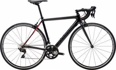 Vélo route femme Cannondale SuperSix EVO 105 Noir Pearl/Strawberry