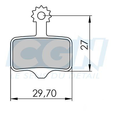 Plaquettes de frein 04 Clarks comp. Avid Elixir / Sram XX Métallisée Semi métallique