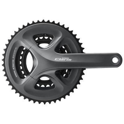 Pédalier Shimano Claris R2030 50/39/30 8/9V 170 mm Hollowtech Noir