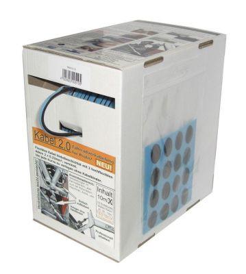 Câble d'éclairage avec gaine textile autocollante (10 m)