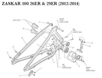 Patte de dérailleur GT Zaskar Carbon 100 9R ATIDH0234