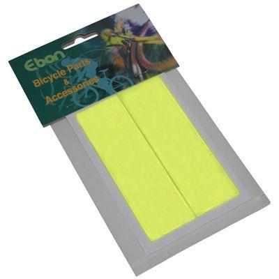 Autocollant réfléchissant rectangle Jaune fluo (Kit 2 pièces)