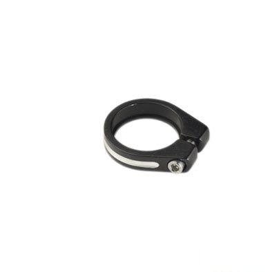 Collier de tige de selle 34,9 mm Alu Serrage CHC Noir