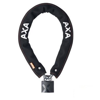 Antivol chaîne à clé AXA Newton Promoto 9 mm x 100 cm Néoprène Noir