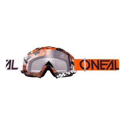 Masque O'Neal B10 Pixel Orange/Blanc Clear