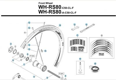 Rayon Shimano Dura Ace WH-RS80 C50 260 mm Avant