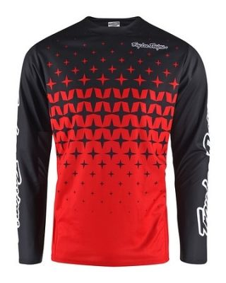 Maillot Troy Lee Designs Sprint Megaburst Rouge/Noir