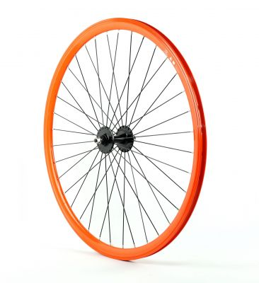 Roue fixie avant 700 Velox 030C hauteur 28 mm Orange