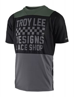 Maillot Troy Lee Designs Skyline Checker Noir/Gris