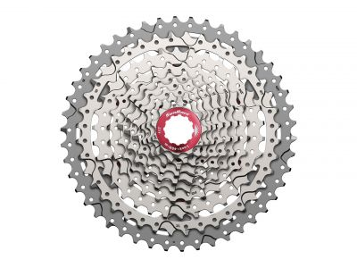 Cassette SunRace MX3 10V 11-46 dents Argent/Rouge