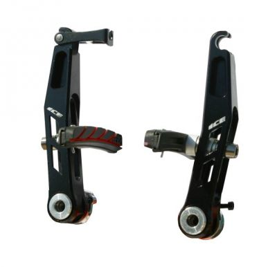 Étriers de frein V-brake Ice Jaw alu CNC Noir