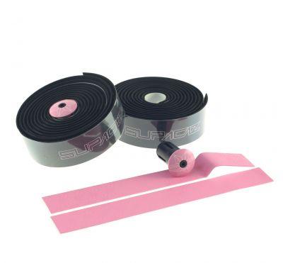 Ruban de cintre Supacaz Super Sticky Kush Tape Noir/Imprimé Rose