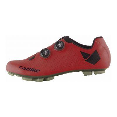 Chaussures VTT Catlike Whisper Oval Carbon Rouge