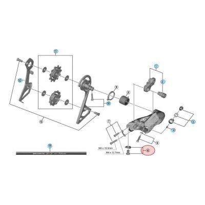 Vis De Fixation Cable Shimano RD-R8000