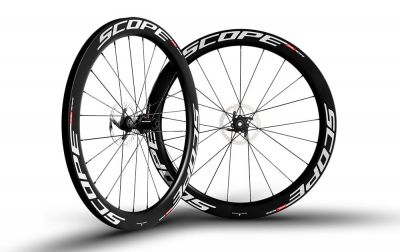 Roues Scope R5D 55 mm disque CL Campagnolo 11V Blanc (Paire)