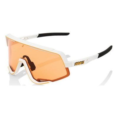Lunettes 100% Glendale White/Persimmom