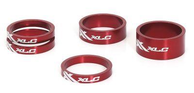 Set entretoises A-Head XLC AS-A02 1.1/8'' Alu Rouge