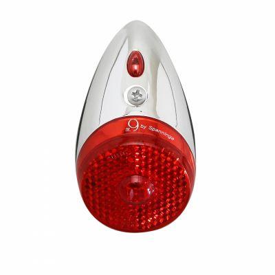 Éclairage AR Spanninga Jos Nine Classic Fix. sur garde-boue Dynamo Chrome